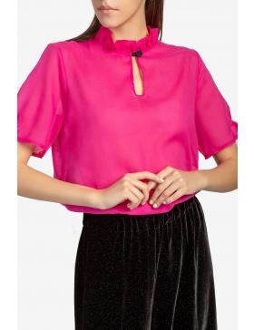 Fuchsia ruffles blouse