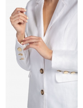 Classic linen white jacket