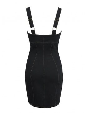 Denim Sculpt Dress Black