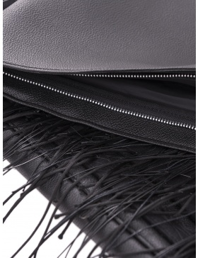 Oversized textured clutch