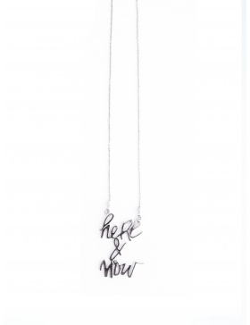 Here&Now silver necklace by Skindeep x Moogu