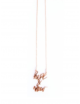 Here&Now rose gold plated necklace by Skindeep x Moogu