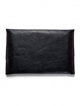 Leather laptop sleeve - navy