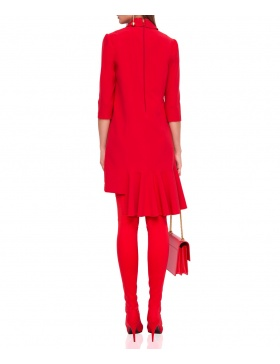 Asymmetrical dress with ruffles