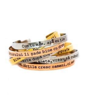 Cum tu mie, asa eu tie gold Bracelet