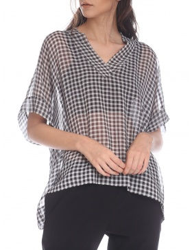 """Chess"" oversize blouse"