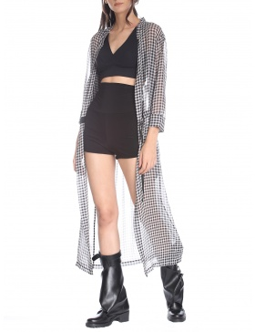 """Chess"" long cardigan"