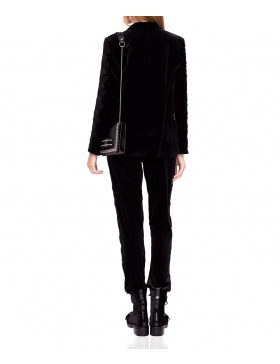 Elegant velvet suit jacket