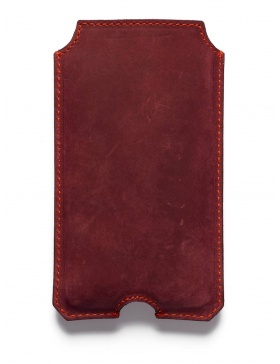 Leather iPhone 6 case - red
