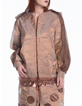 Sport-couture quilted jacket