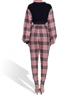 Lined tartan attitude pants