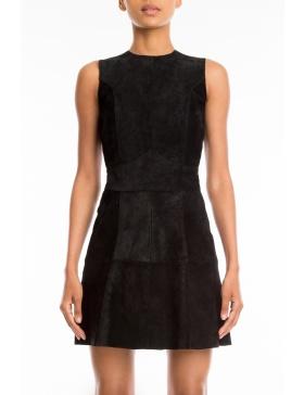 Lynn suede leather dress