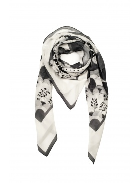 Initiation black/white scarf