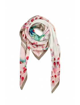 Peacock silk scarf