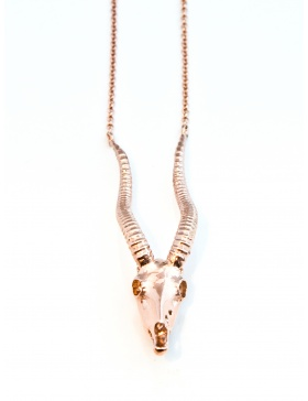 Antelope necklace rose