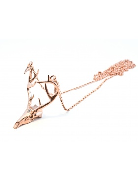 Deer necklace rose