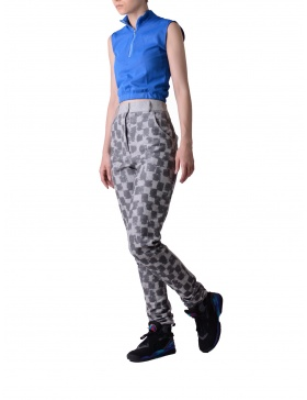 Grey digital printed trousers