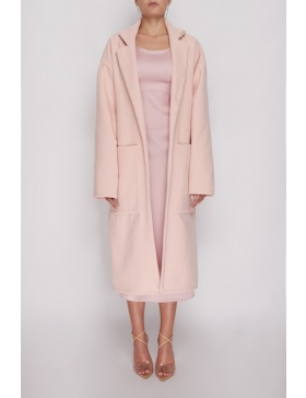 Frankie pink oversized winter coat