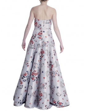 Long dress with floral print
