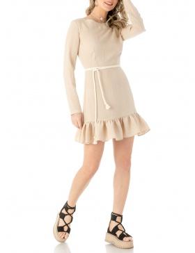 Print poplin mini dress