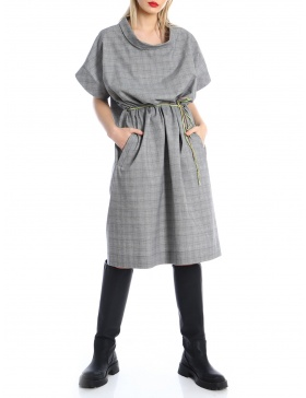 Oversized checked dress