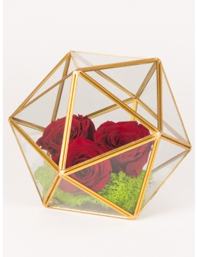 Preserved roses sphere shaped arrangement