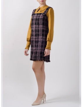 Shannon Dress cut from Plaid Felt