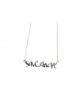 Save&Hope silver necklace by Skindeep x Moogu
