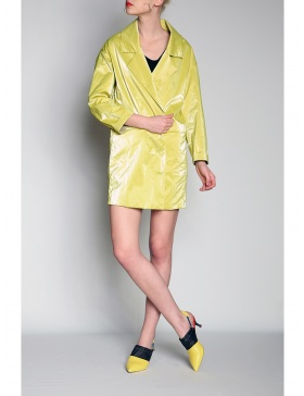 Wet look dress-jacket