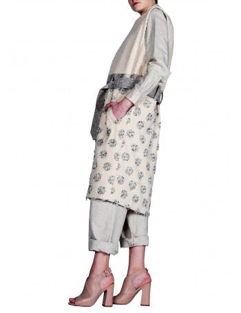 Long vest with dots