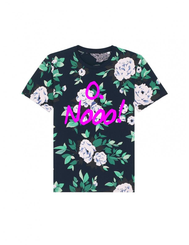 O. Nooo! Floral T-shirt