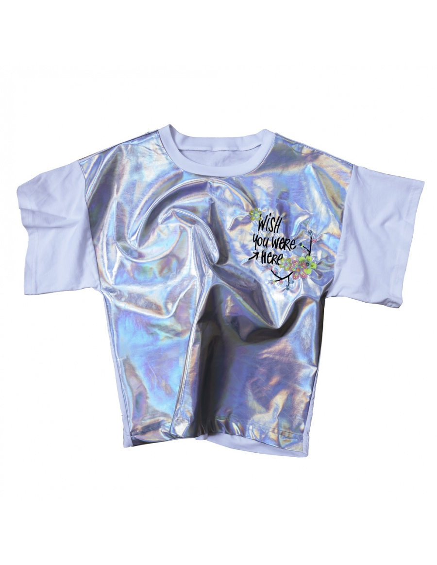 HERE T-shirt silver
