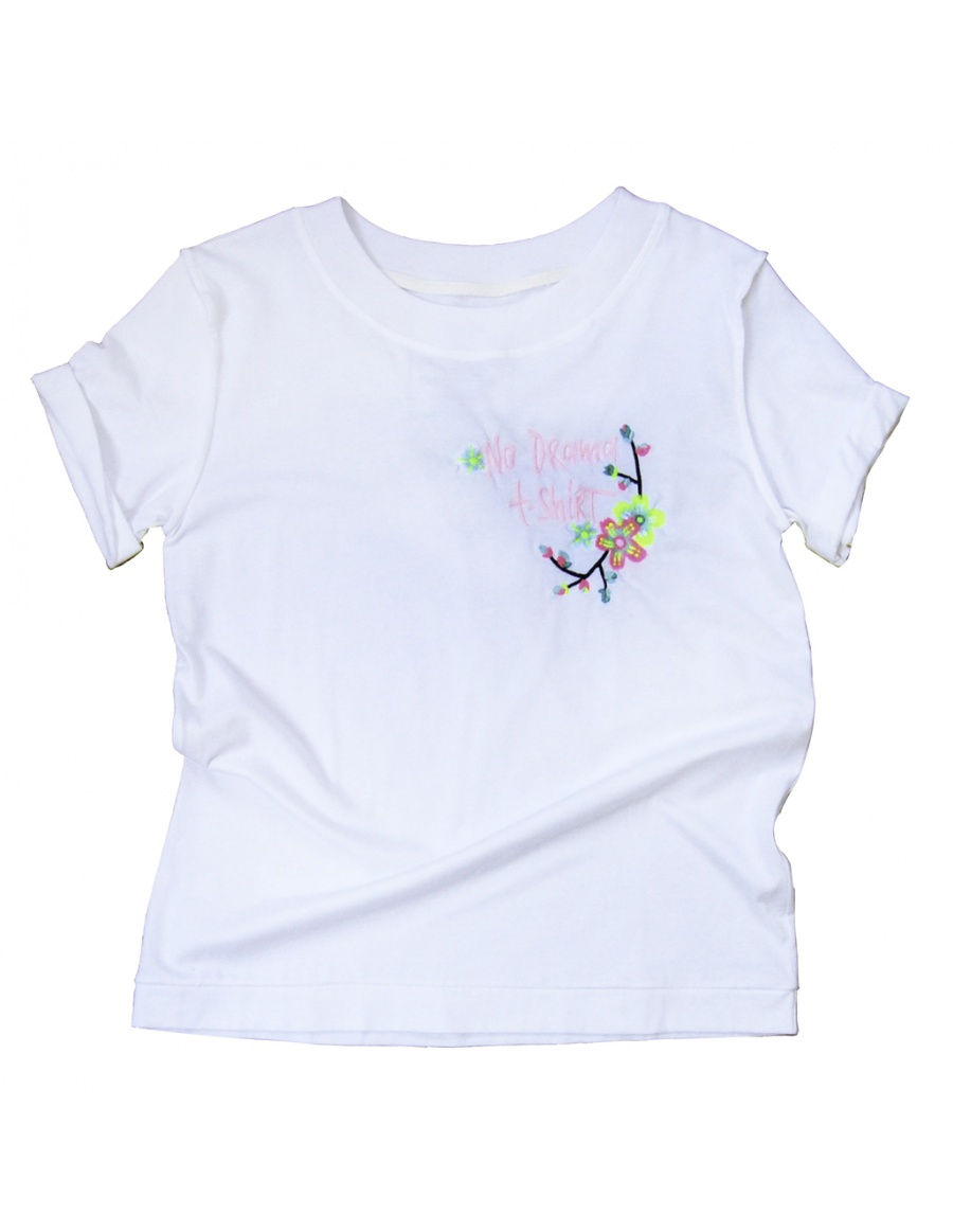 NO DRAMA white T-shirt