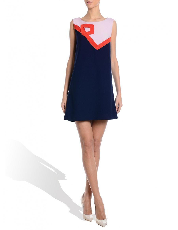 Blue Pink Triple Veil Dress