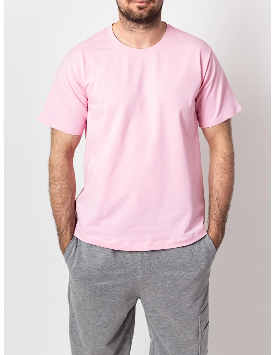 Basic Pink Men T-shirt