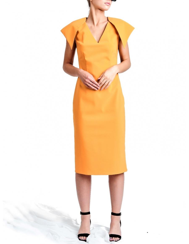 Mustard-Coral Susur Dress