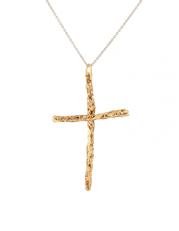 Karma Cross Gold/Silver Pendant