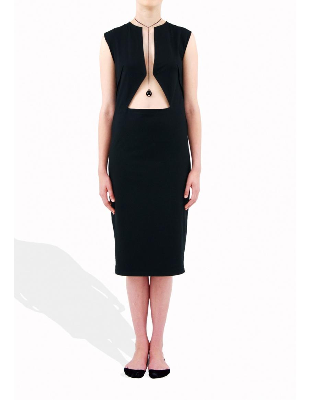 Geometric black dress