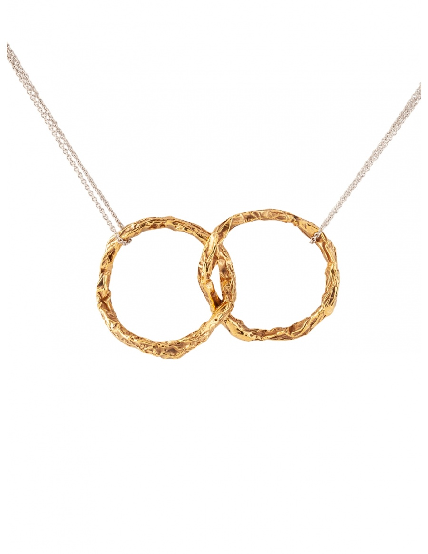 Karma Double Gold/Silver Pendant
