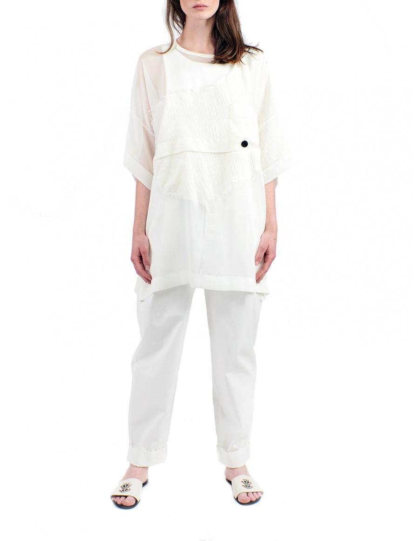 Oversized transparent blouse