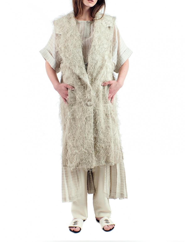 Organic structured long vest