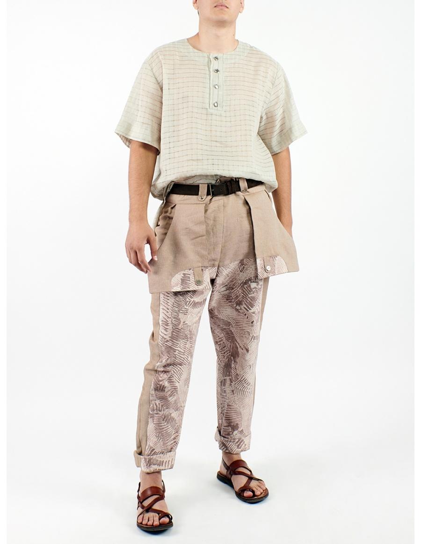 Pants printed with Sandra Chira drawings