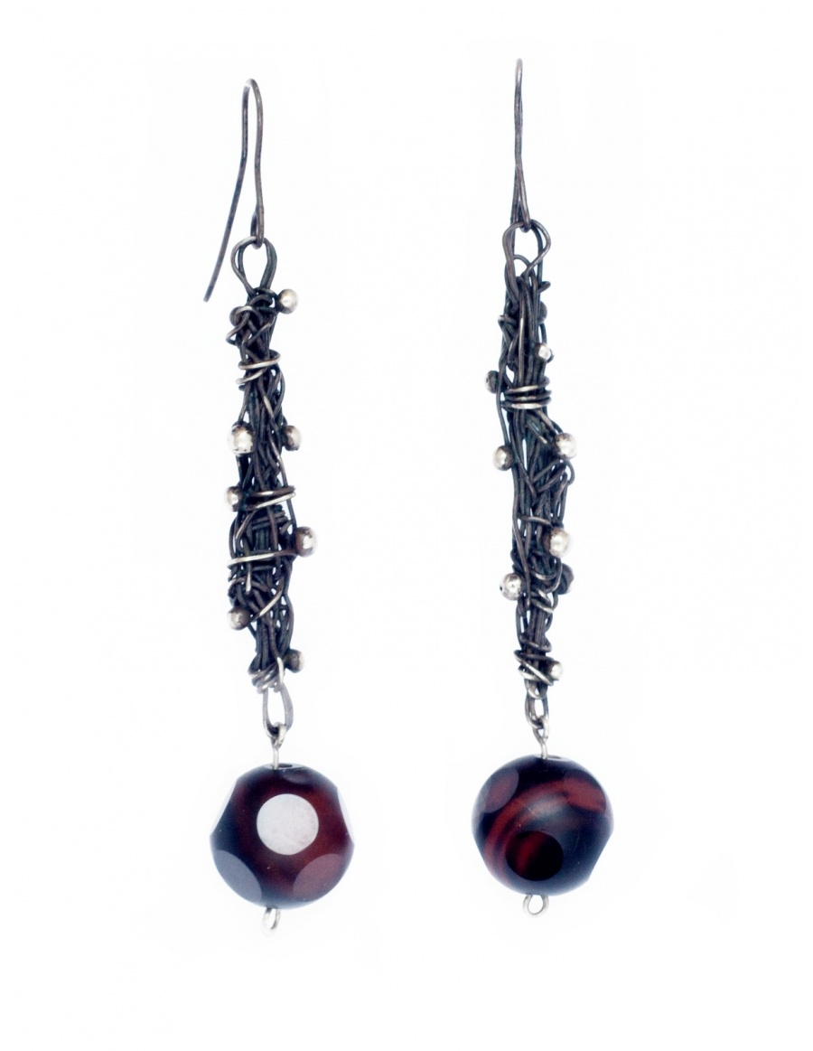 Knotted earrings