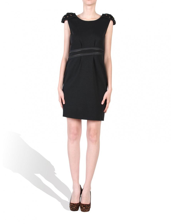Black dress with epaulets