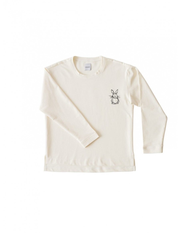 Off White Sweatshirt Happy