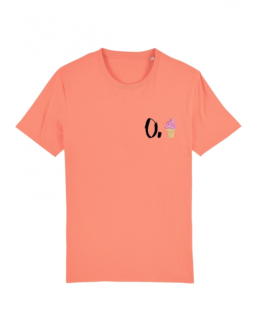 O. ice cream T-shirt - black writing
