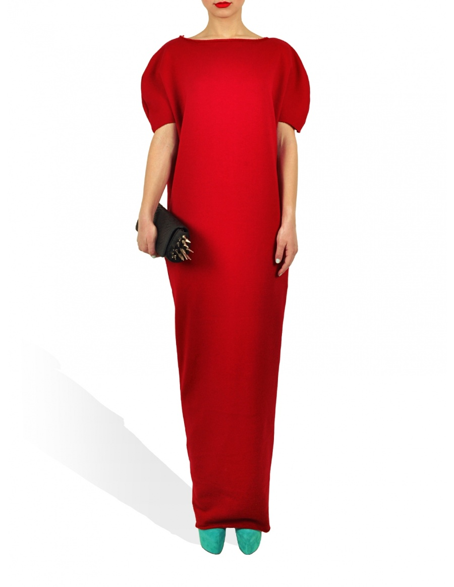 Maxi Lenght Princely Dress in Lipstick