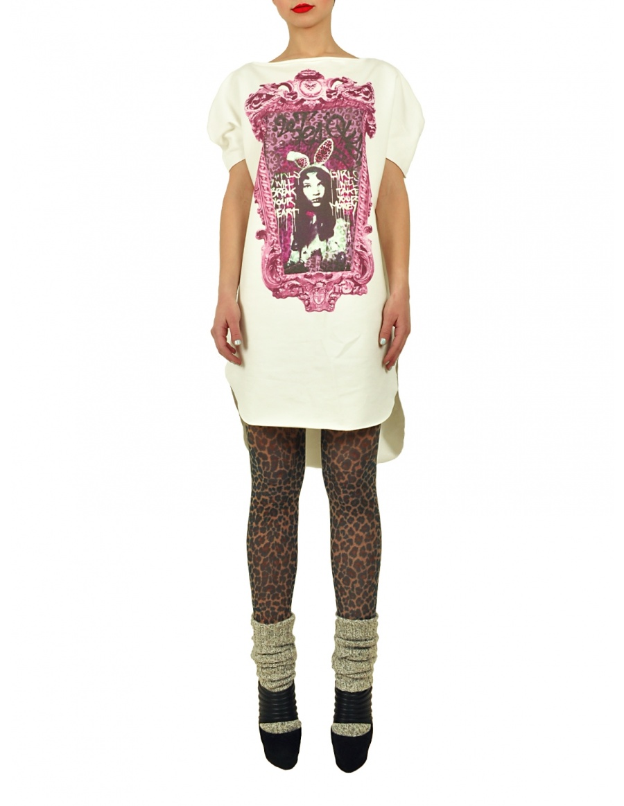 Long Princely T-Shirt Princess Alice in Milk