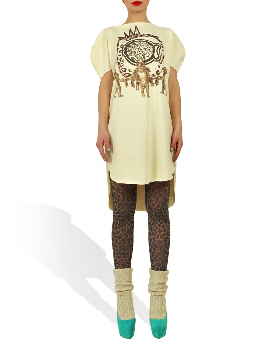 Long Princely T-Shirt The Gold Digger in Vanilla