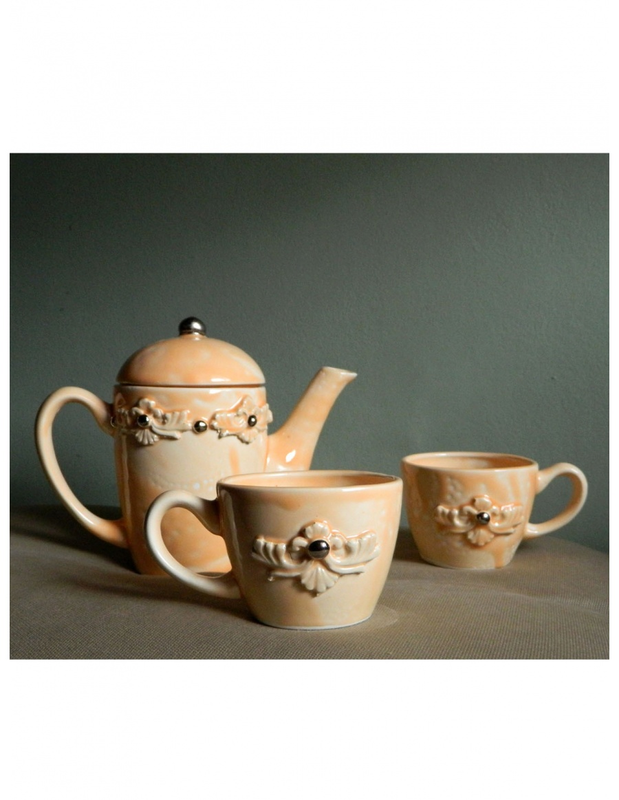 Miss lovely flower Teapot and tea cups set